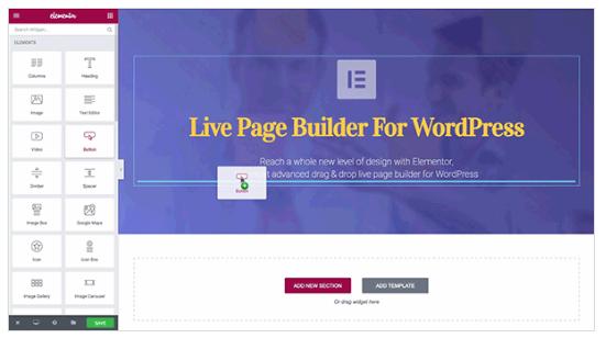 Elementor: Page Builder per WordPress