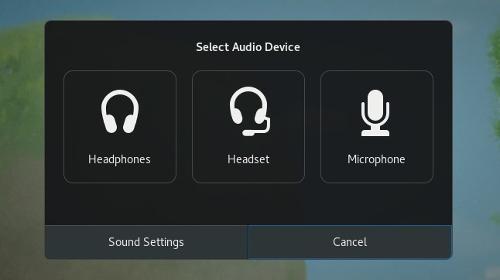 GNOME: un pannello per i device audio sconosciuti