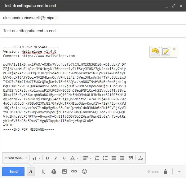Crittografia di una email