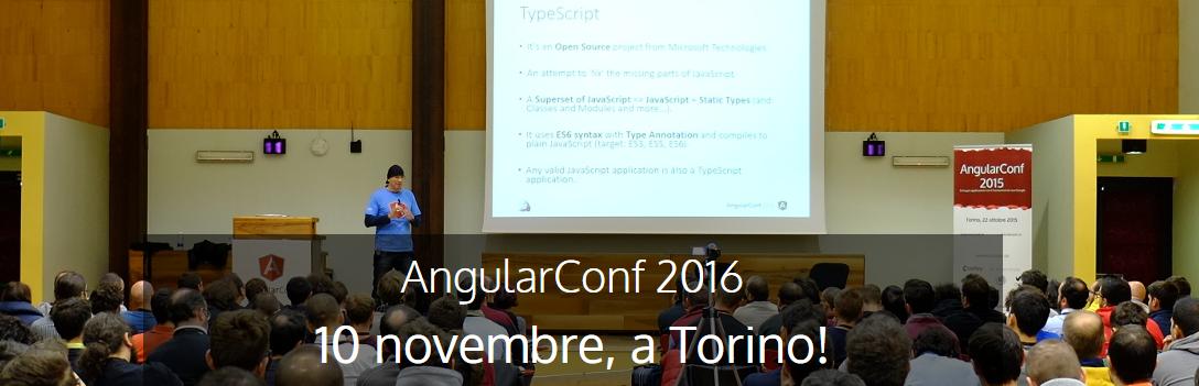 AngularConf 2016: l'agenda è online