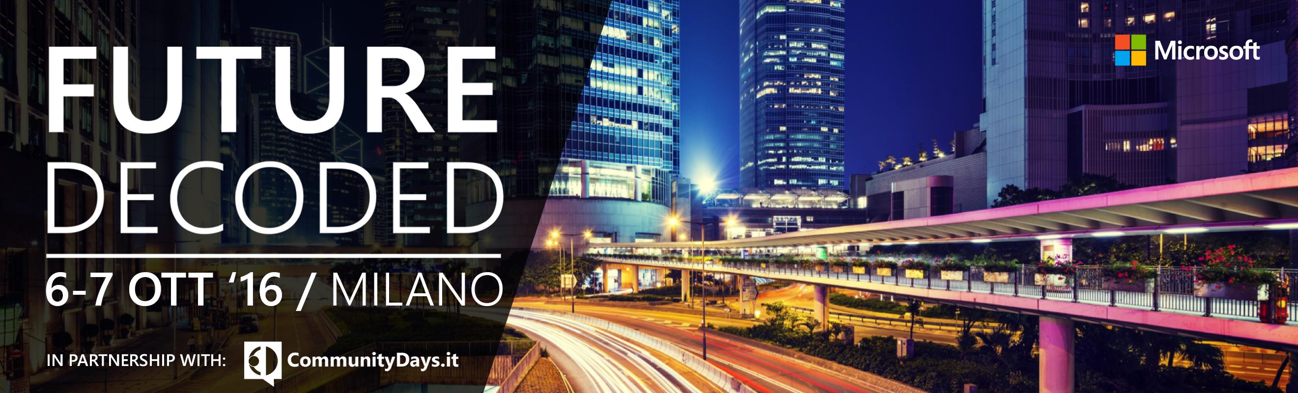 Microsoft FutureDecoded 2016, il 6 e il 7 ottobre a Milano