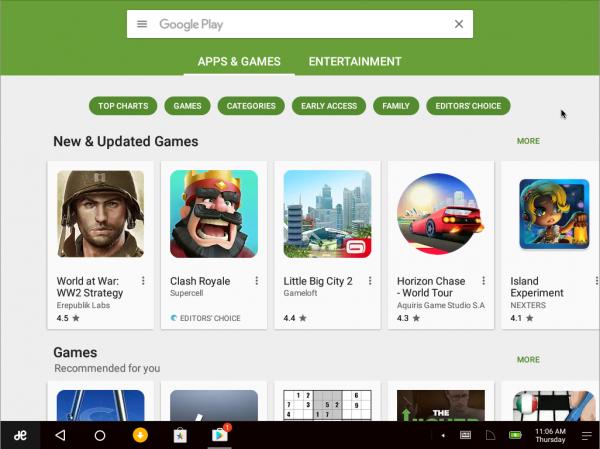 Il Play Store di Google su Remix OS