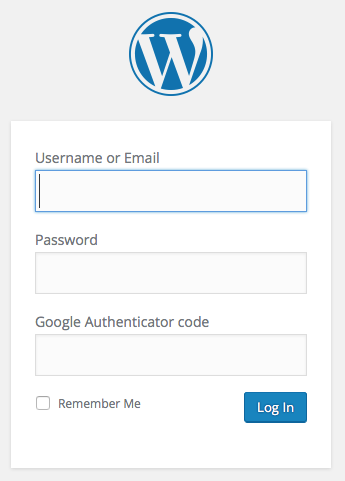Google Authenticator Login form