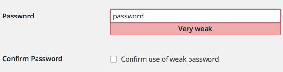 Indicatore di forza delle password