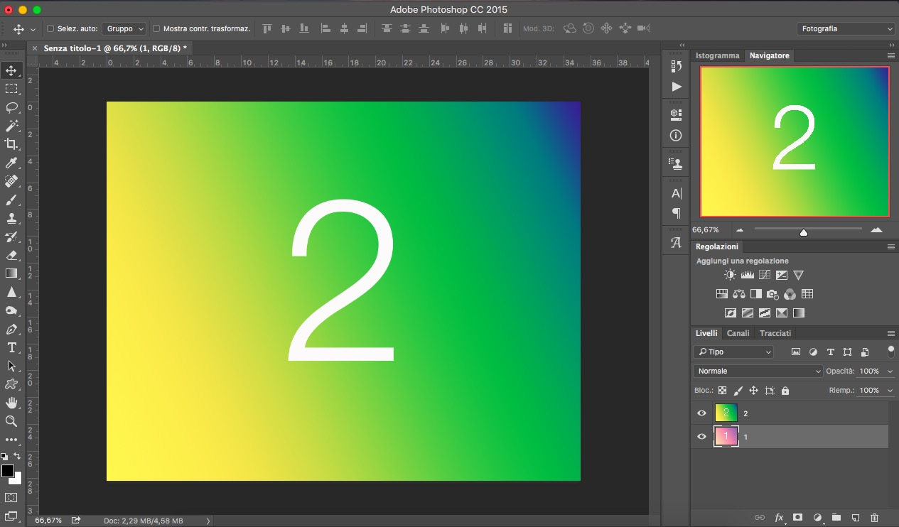 Livelli: lopacità photoshop essenziali grafica html.it
