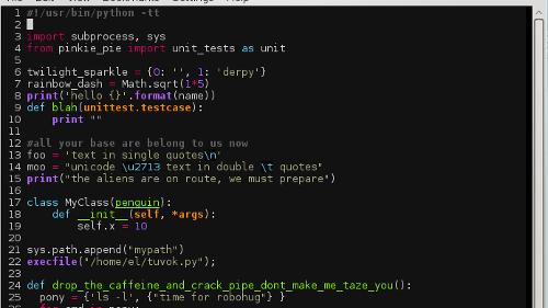 Vim 8.0 con supporto per JSON e le GTK3