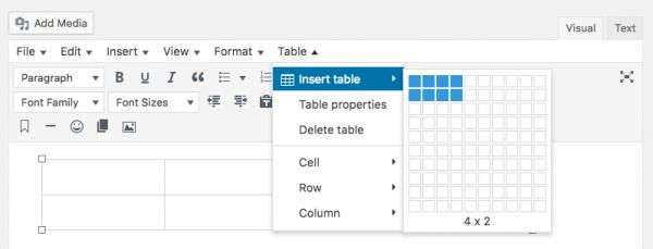 L'immagine mostra la versione avanzata dell'editor, cui sono stati aggiunti un menu di strumenti e una nuova riga di pulsanti