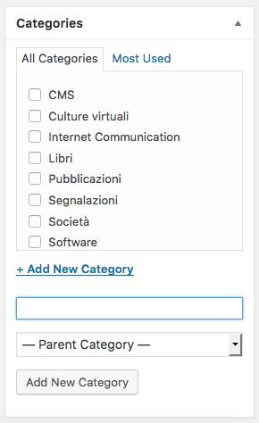 Post Categorie