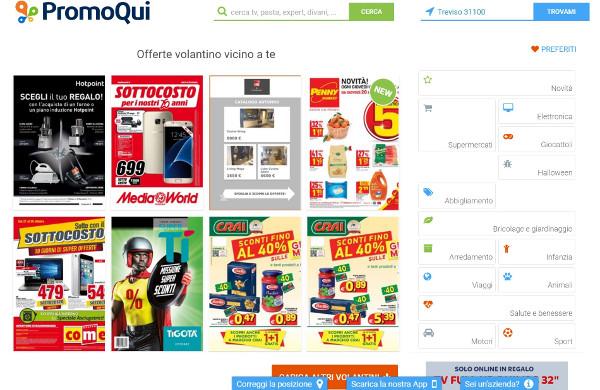 Interfaccia PromoQui
