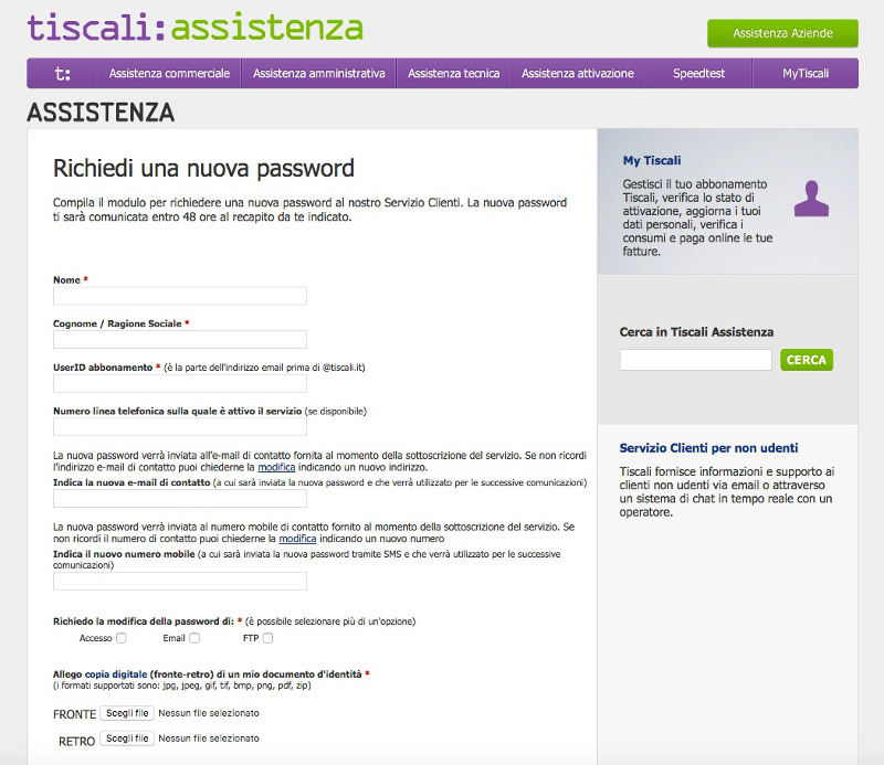reset password email chat sesso gratis
