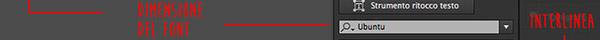 Dimensione del font e interlinea
