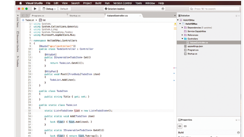 Microsoft Visual Studio è in arrivo su MacOS