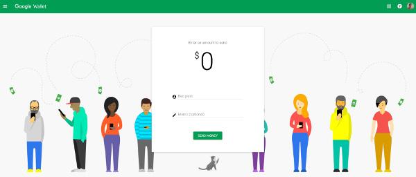 Interfaccia Google Wallet