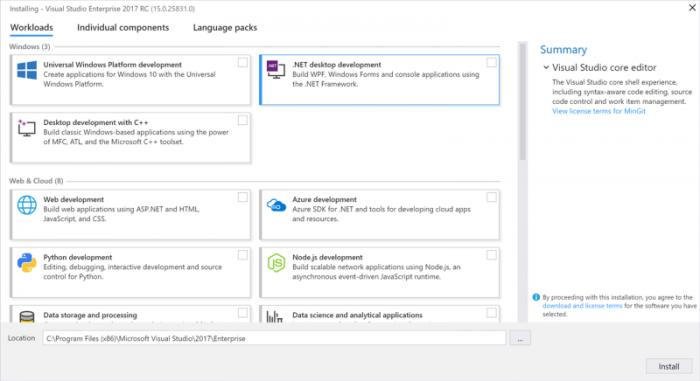 Visual Studio 2017, tutte le novità per gli sviluppatori