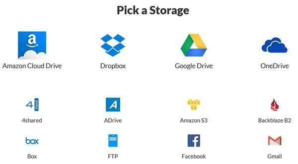 Aggiunta di un servizio di cloud storage