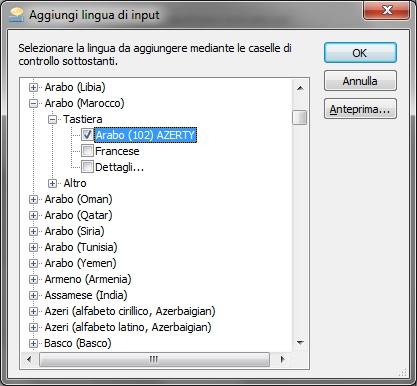 tastiera araba gratis per windows 7