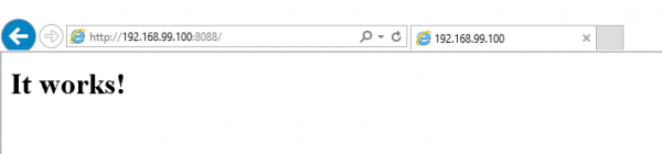 La schermata iniziale del demone HTTP di Apache
