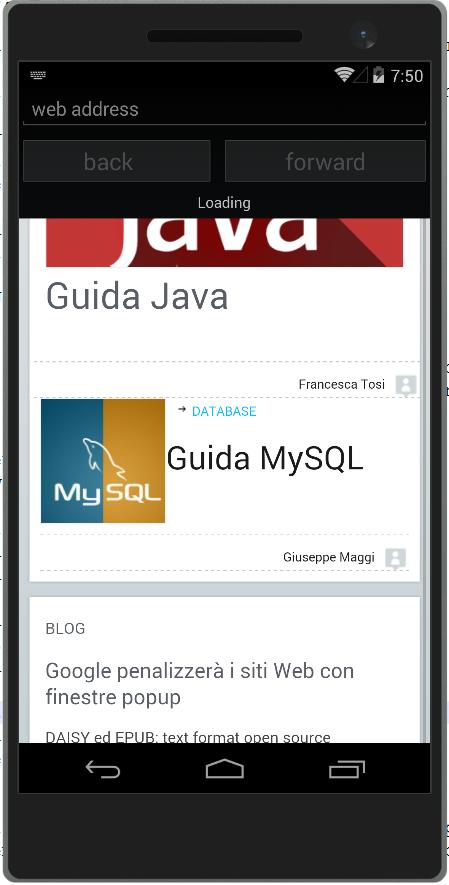 Esempio con di loading bar su Android