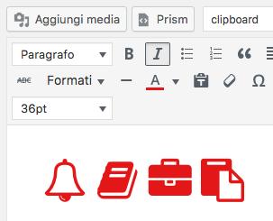 Cambiando il colore del font, cambia anche il colore delle immagini