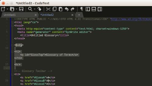 CudaText: IDE Open Source per sviluppare in oltre 160 linguaggi