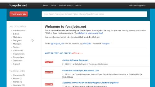 Fossjobs: il primo portale per la ricerca di professionisti open source