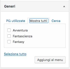 Modulo menu