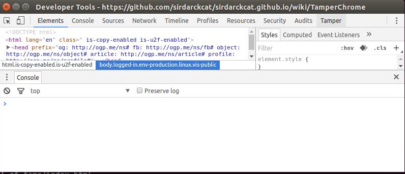 Tamper Chrome per il monitoraggio delle richieste HTTP