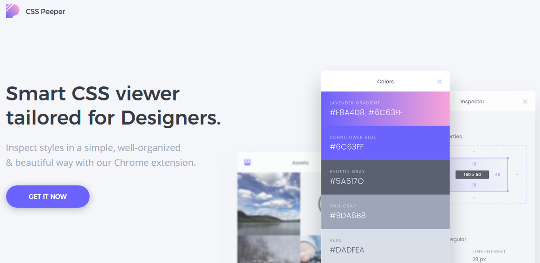 CSS Peeper: CSS viewer per Web designer
