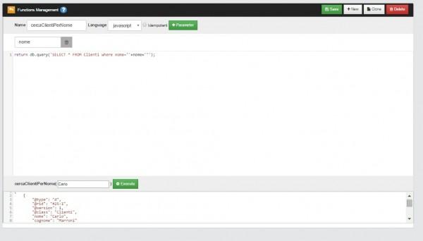 Definire funzioni Javascript in Studio