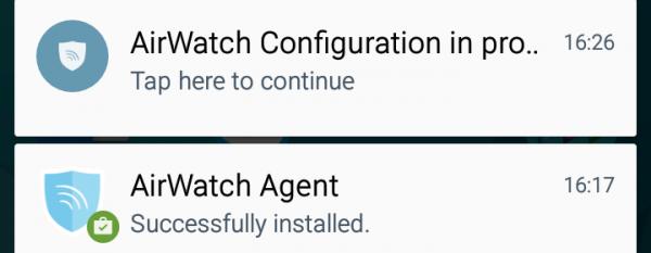 Schermata di App installata (Sistema Operativo)