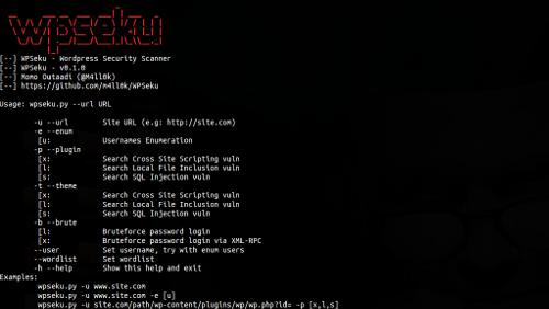 WPSeku: WordPress Vulnerability Scanner in Python
