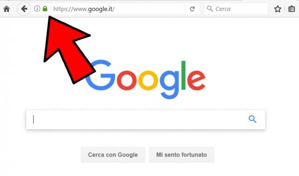 Barra degli indirizzi di Google su Firefox