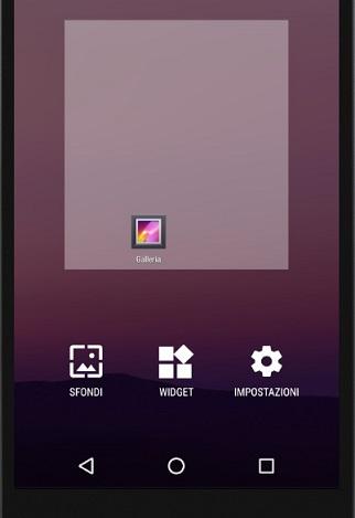 Accesso alla gestione degli App Widget