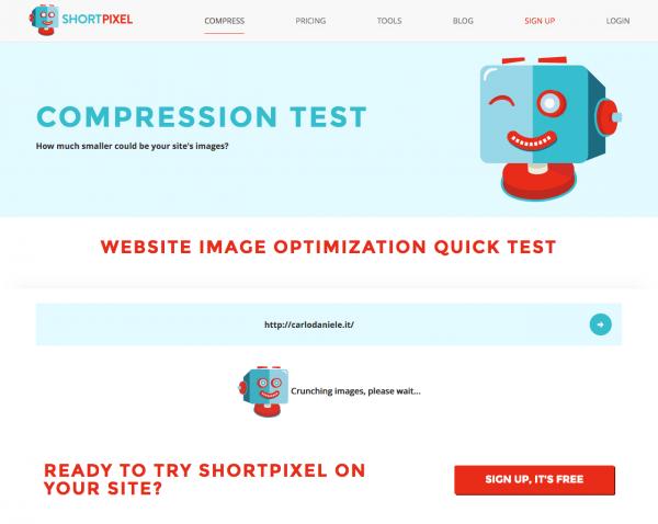 Shortpixel compression test