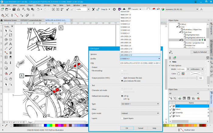 CorelDRAW Technical Suite 2017 CGM Export