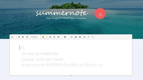Creare editor WYSIWYG con Summernote