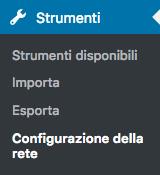 Menu Strumenti