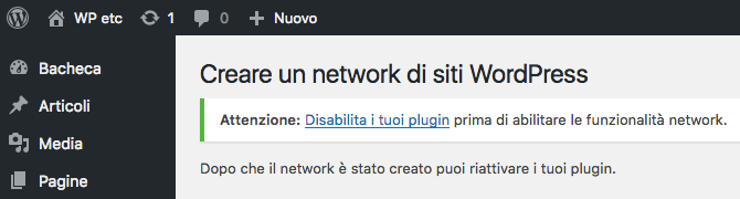 Disabilitare plugin