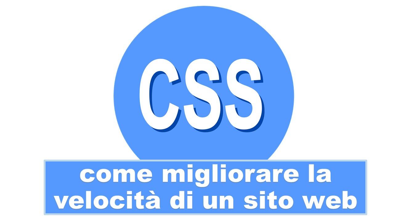 Pagine Web più veloci con la minificazione di CSS