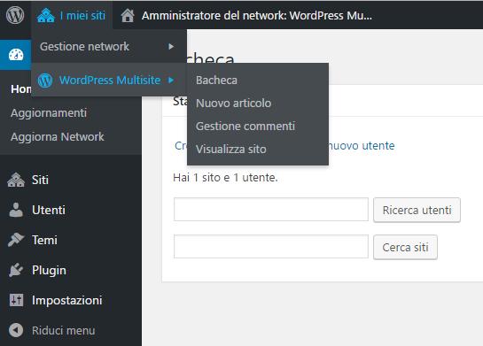 WordPress Multisite Dashboard