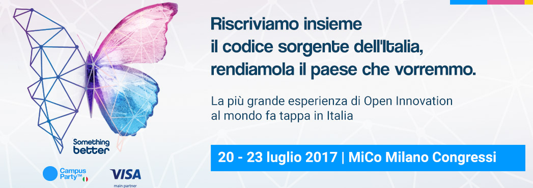 Campus Party dal 20 al 22 luglio a Milano
