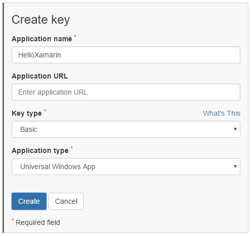 Form da riempire per la richiesta di una chiave di accesso per app Windows