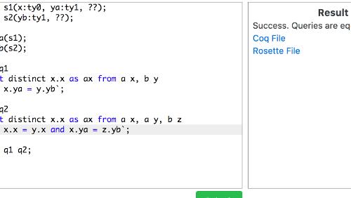 Cosette: SQL solver open source