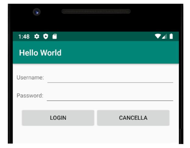 Un modulo di login in Android