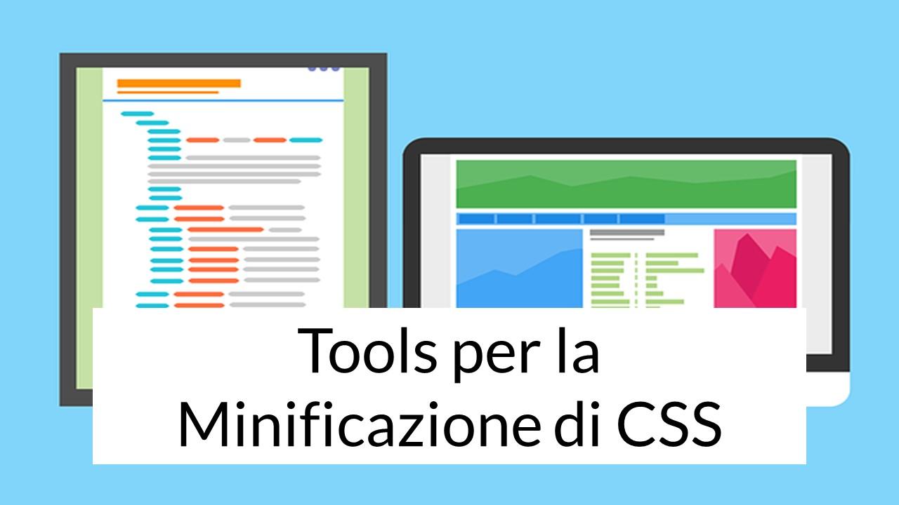 Tools per la Minificazione di CSS