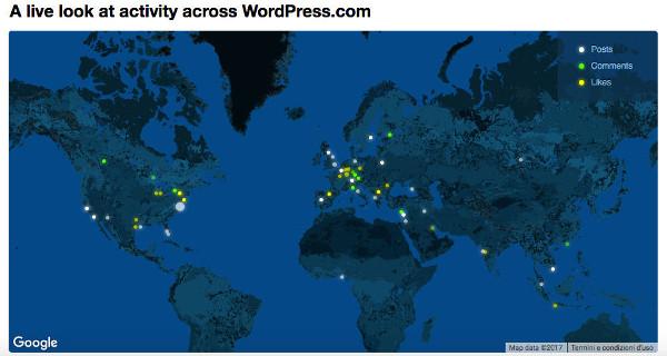 Mappa attività di WordPress.com