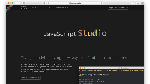 JavaScript Studio: un Cloud service per scovare errori di runtime in Javascript