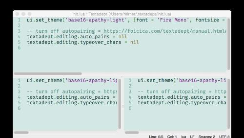 Textadept: un text editor multipiattaforma basato su C e Lua