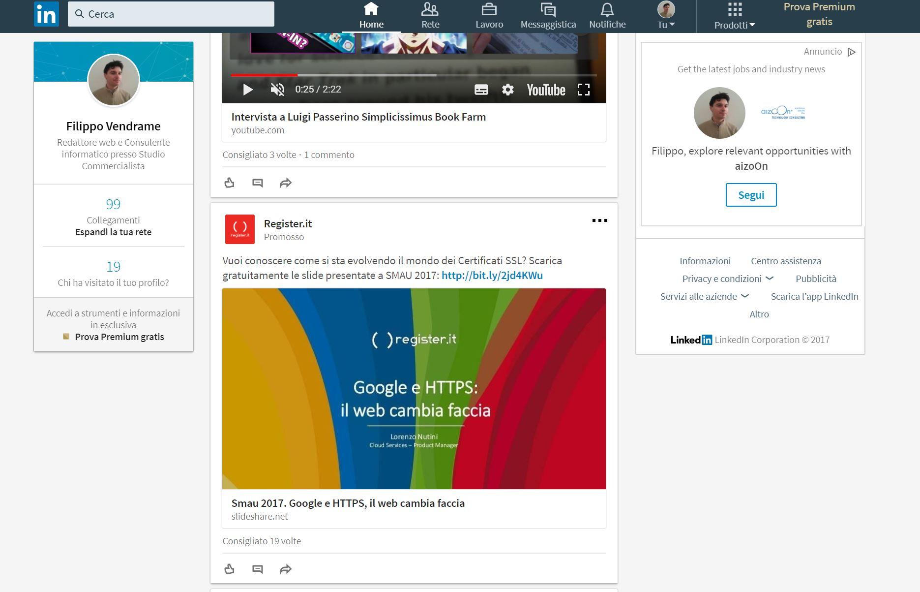 LinkedIn Guida Alla Creazione Di Un Profilo Download HTML