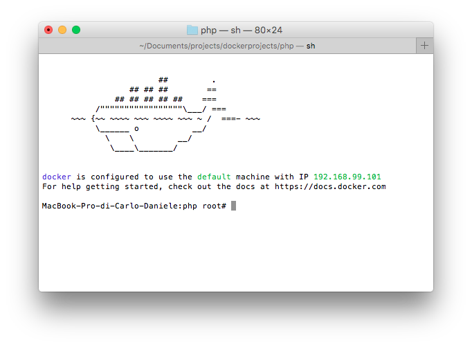 Docker su Mac OS X